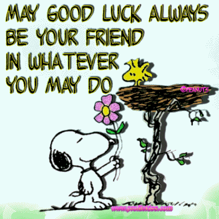 Good Luck Snoopy.