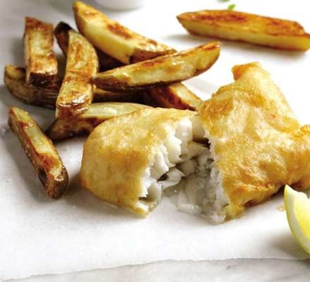 the ultimate makeover fish chips angela nilsen takes the british favourite and gives it a lighter healthier and bbc good food recipes fish and chips food bbc good food recipes fish and chips