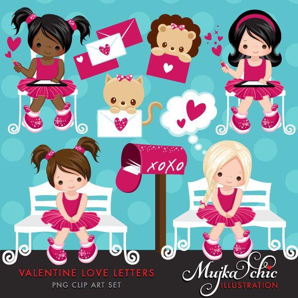 Valentine Clipart With Cute Valentine Characters Valentine Etsy Valentine Clipart Valentines Day Clipart Clip Art