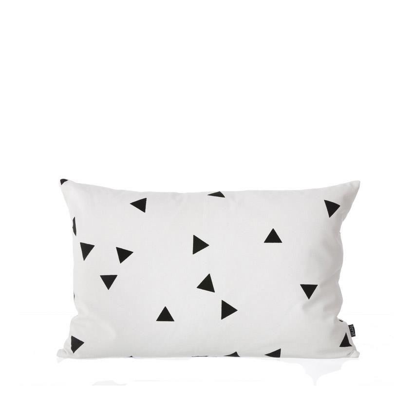 Mini trekant pute, sort/hvit