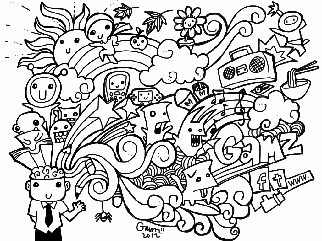 - Doodle Coloring Pages Doodle Art Drawing, Doodle Pages