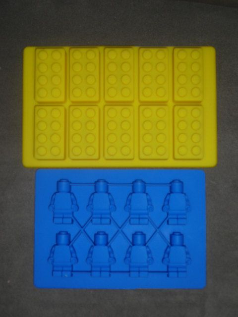 Set of 2 Silicone Lego Minifigure Ice tray & brick ice tray candy soap mold birthday party favors FIRST CLASS SHIPPING. $15.99, via Etsy.