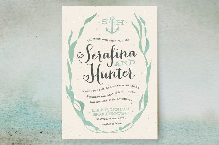 Whimsical Kelp Wedding Invitations by Trista SydloskiTesch at