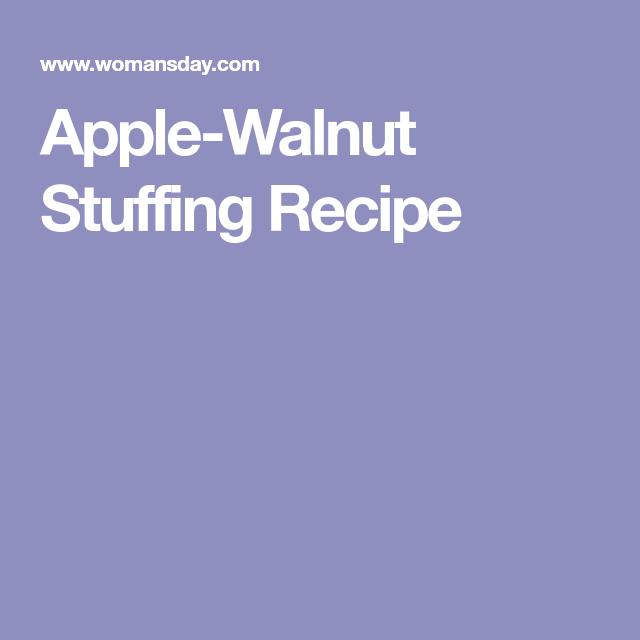 Apple-Walnut Stuffing Recipe