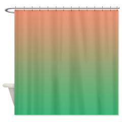 Peach Fading Into A Lovely Pastel Green Make This A Stylish Shower
