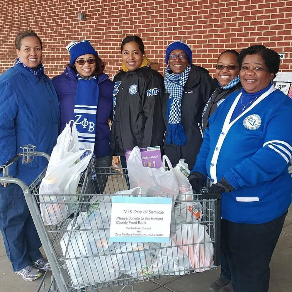 Lambda Gamma Zeta Chapter At The Howard County Food Bank Donation