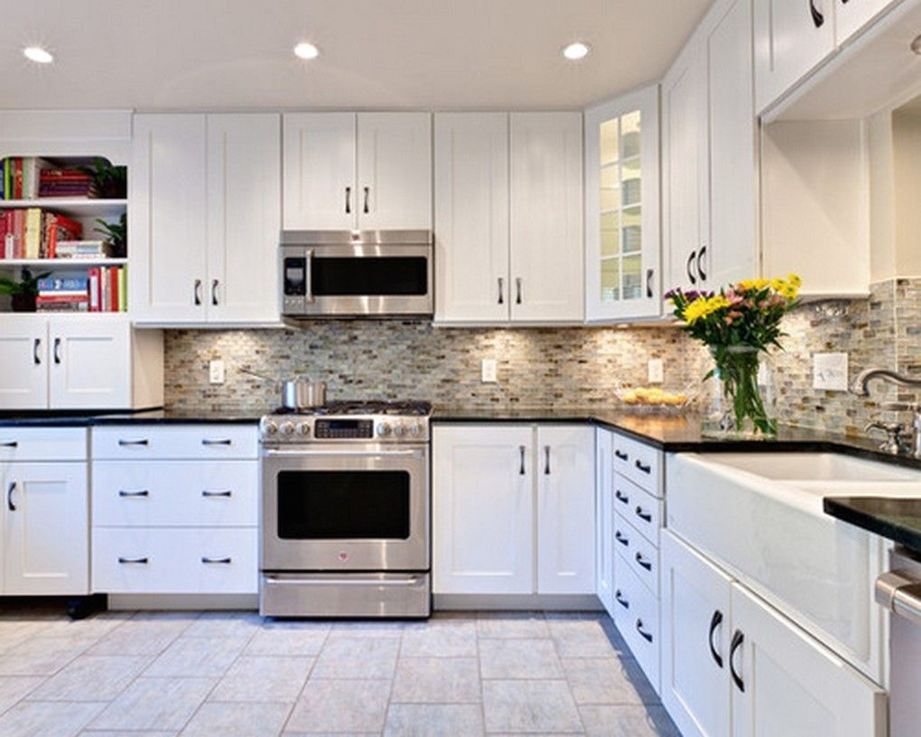 Made In Usa Kitchen Faucets Kitchen Remodelling Kitchen Countertop Kitchen Plumbing As Well As Kitchen Design Ideas White Modern Kitchen White Cabinets Black Countertops Granite Countertops Kitchen