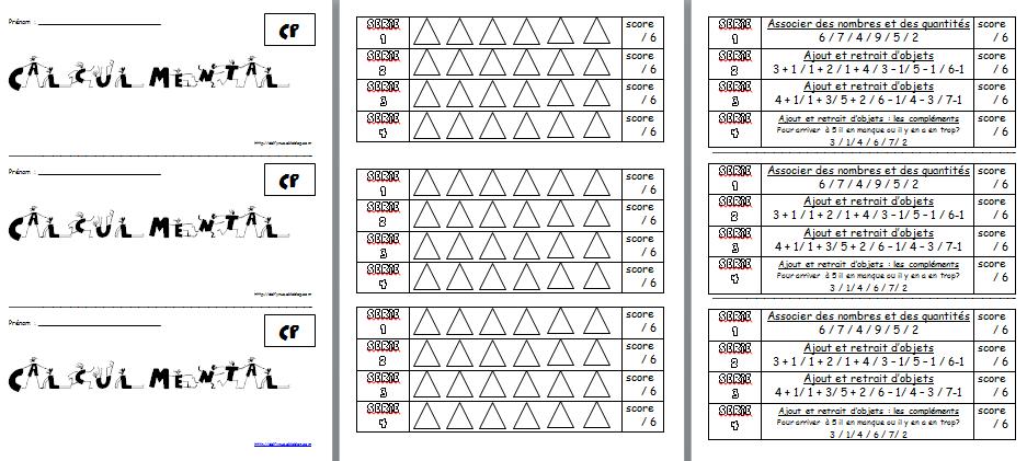 Livret calcul mental cp maths pinterest math for Livret multiplication