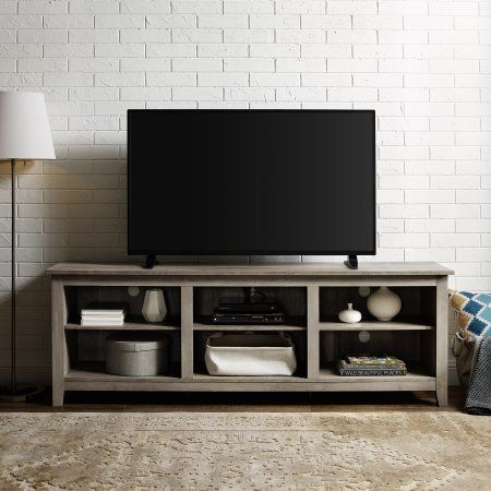 Floating Entertainment Center Mount Media 70 Tv Stand Wood Distressed Wall Unit