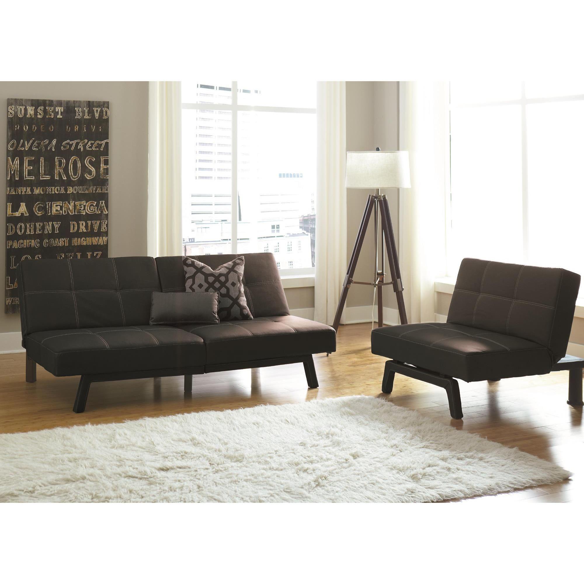 DHP Delaney Black Splitback Futon Splitback futon black Size