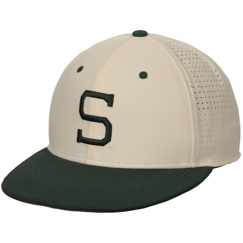 c031221b ... clearance big discount ff5f1 7999e michigan state spartans nike true  vapor performance fitted hat natural 160fa