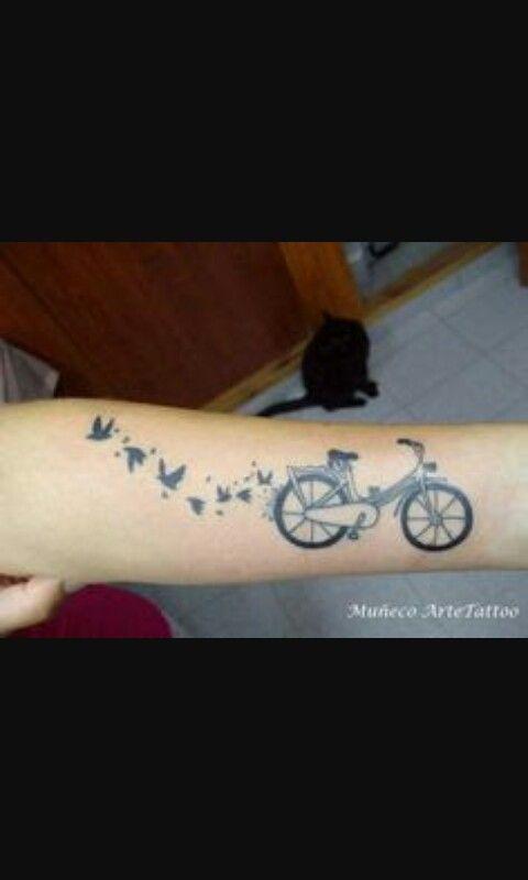 Bicicleta Para Las Que Aman Tener Un Buen Camino Tatuajes