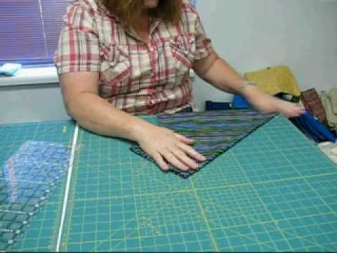 Easiest way to cut bias strips...totally worth watching, if only ... : cutting bias strips for quilt binding - Adamdwight.com