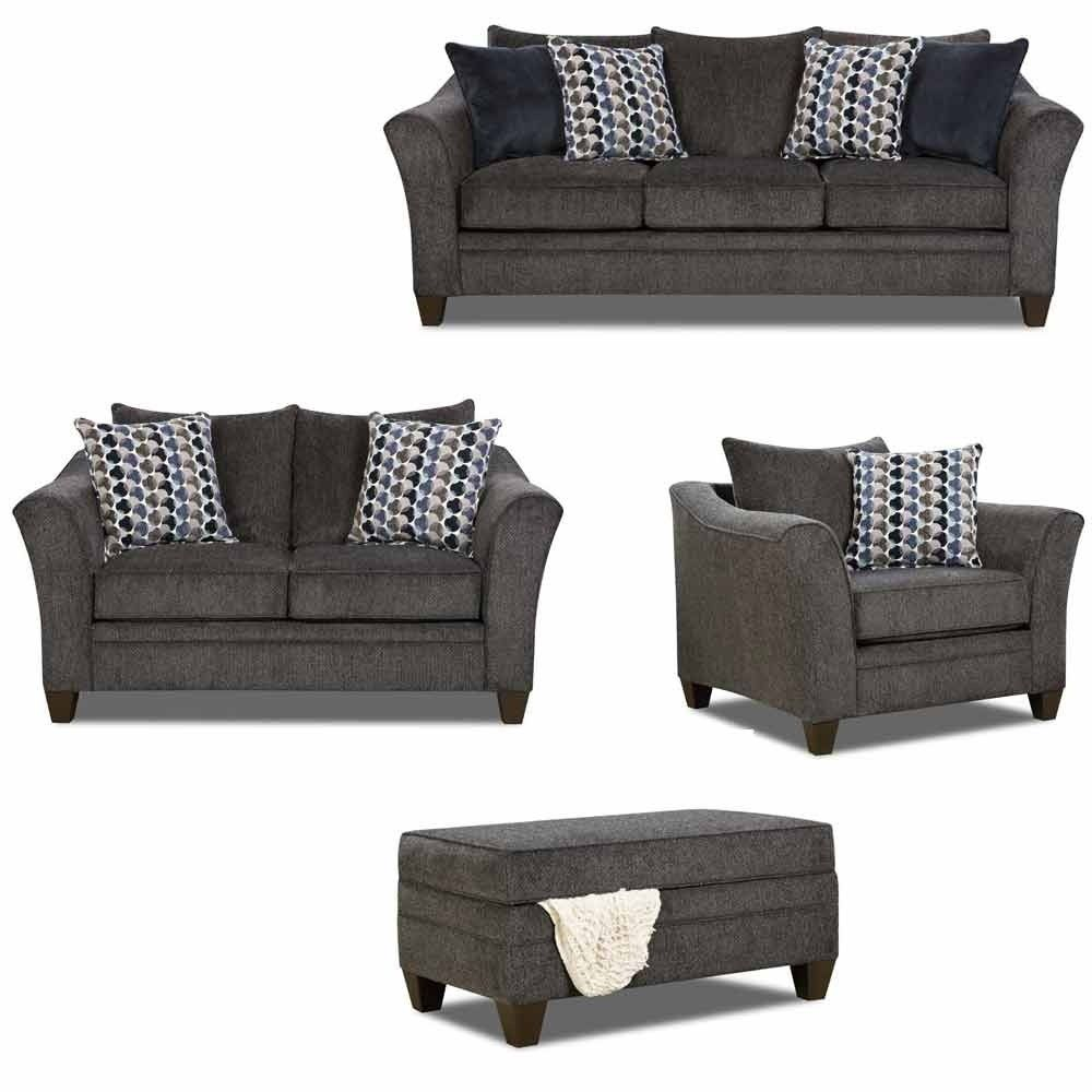 Simmons Upholstery - Albany 4 Piece Living Room Set - 6485-03-02-01 ...