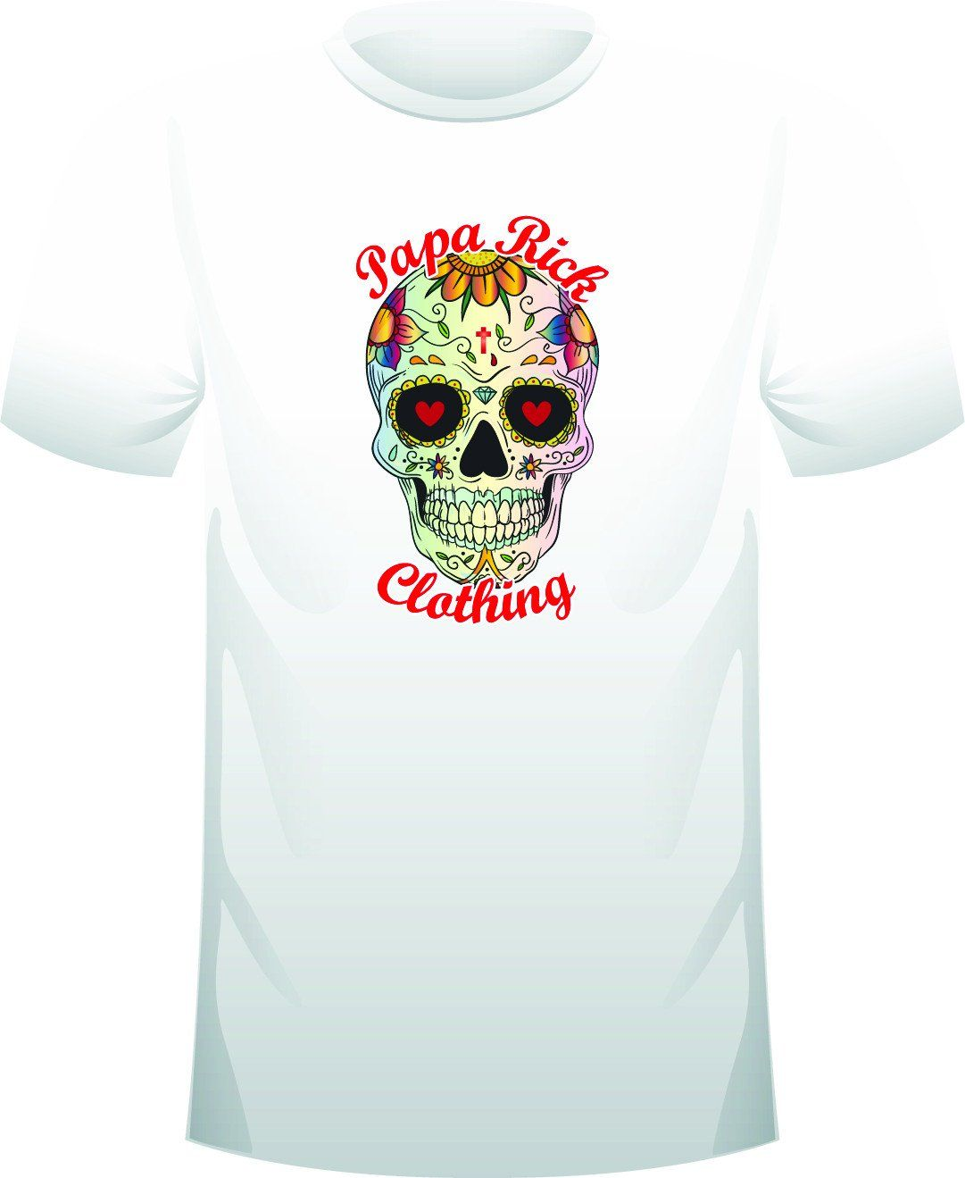 5b8f6670e Short Sleeve T-Shirt - Papa Rick Clothing Sugar Skull 3 | Products ...