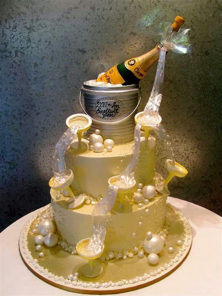 Champagne Cake Art