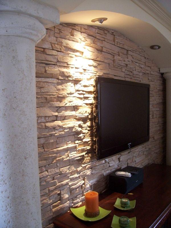 Veneer Stone Manufactured Ledgestone Concrete Stacked Stone Wall