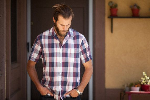 Triumph 80's Vintage Plaid ButtonUp Short by vintagevictim1976, $15.00