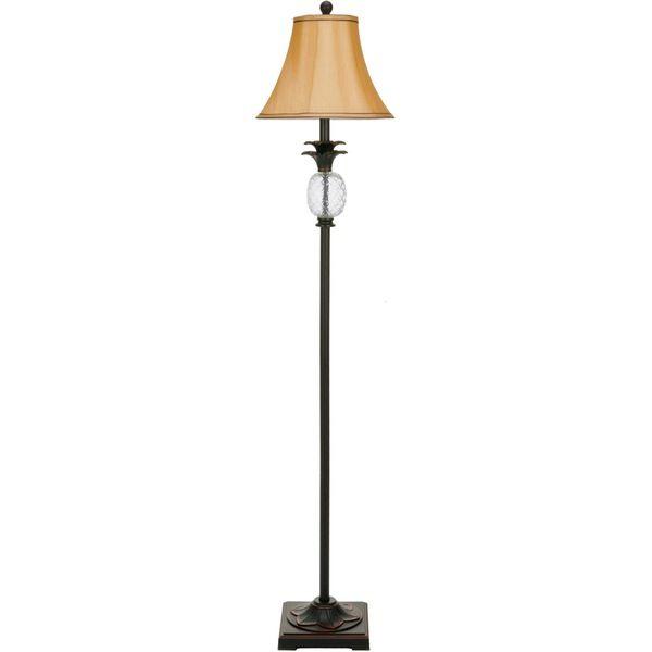 Safavieh Alyssa Tall Pineapple Lamp Black Lamps Floor Lamp