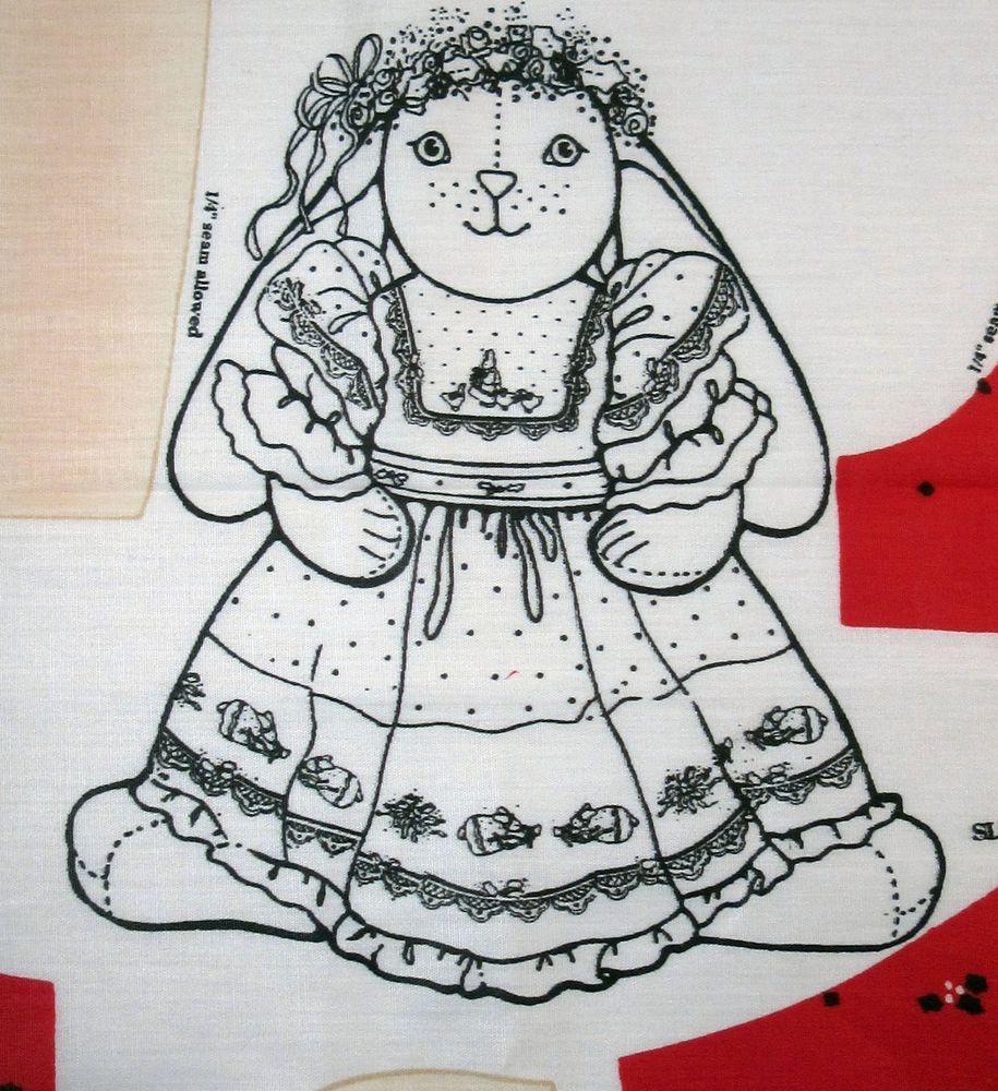 Daisy Kingdom Veronica Louise Bunny and Dress fabric panel 18\