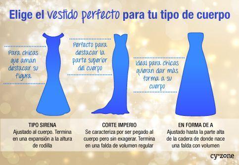 Elige el vestido perfecto para ti según tu tipo de cuerpo.