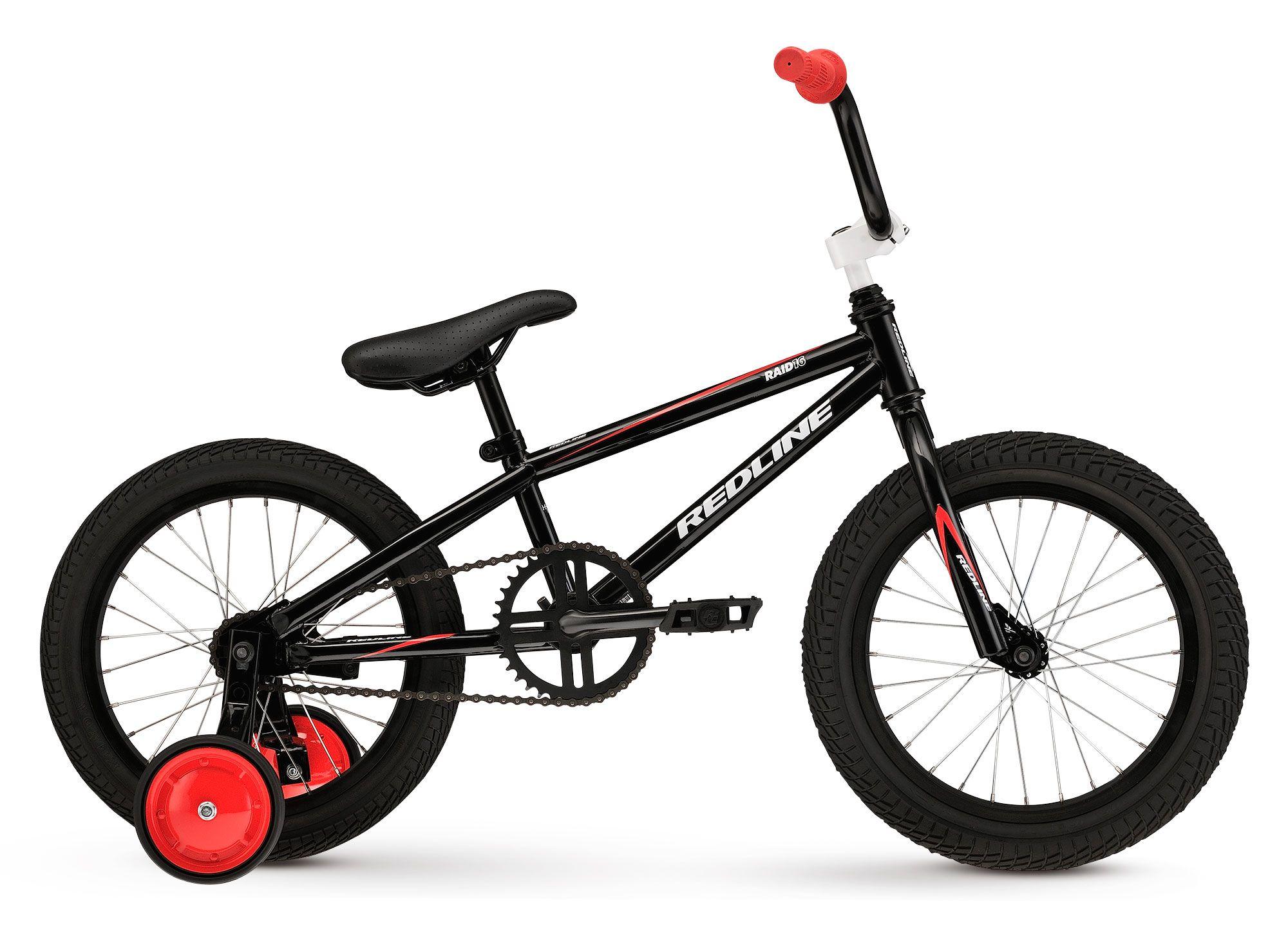 2014 raid 16 redline bicycles black bmx bicycle