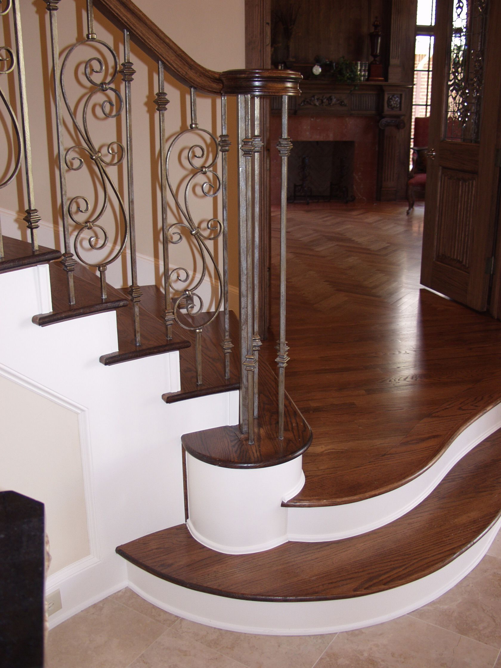 Oil Rubbed Bronze 16.1.35 Double Knuckle Solid Iron Baluster for Staircase Remodel