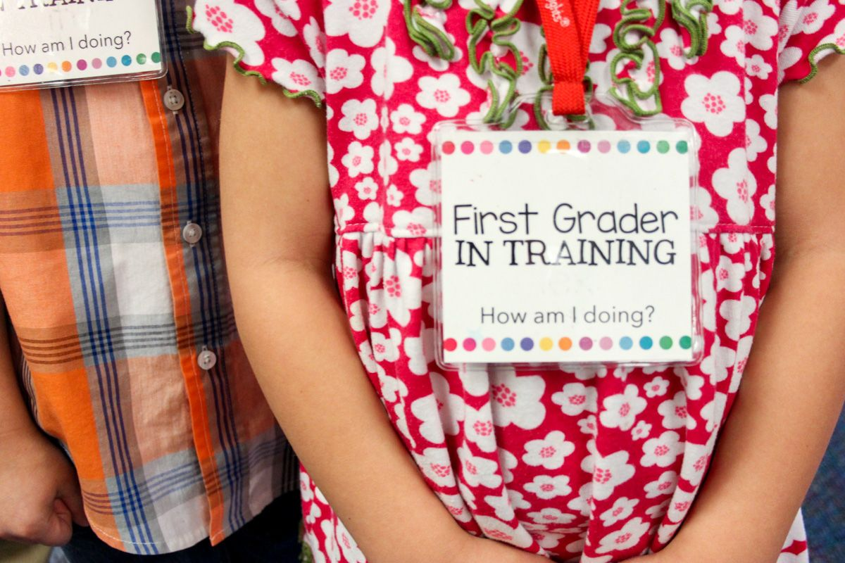 Free First Grader In Training Badges