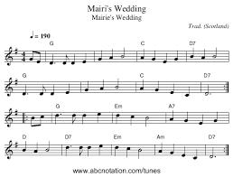 Marie s wedding tin whistle fingering