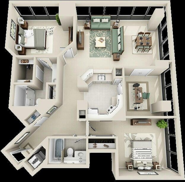 40 Top Large And Small Barndominium Floor Plans With Pictures House Floor Plans Sims House Design Sims House Plans