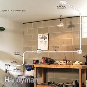 How To Install Surface Mounted Wiring And Conduit Home