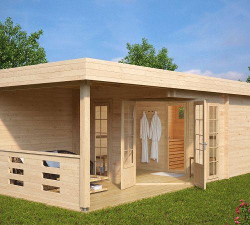 Gartenhaus mit Sauna kaufen | Gratis Lieferung | Hansagarten24