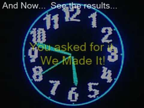 The Most Amazing Rgb Propeller Clock Ever Seen Final Version Propeller Clock Arduino Led Clock
