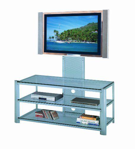 nice Sony BRAVIA TV | Lite Source LSH-5612SILV Burly 3-Tier TV Stand ...