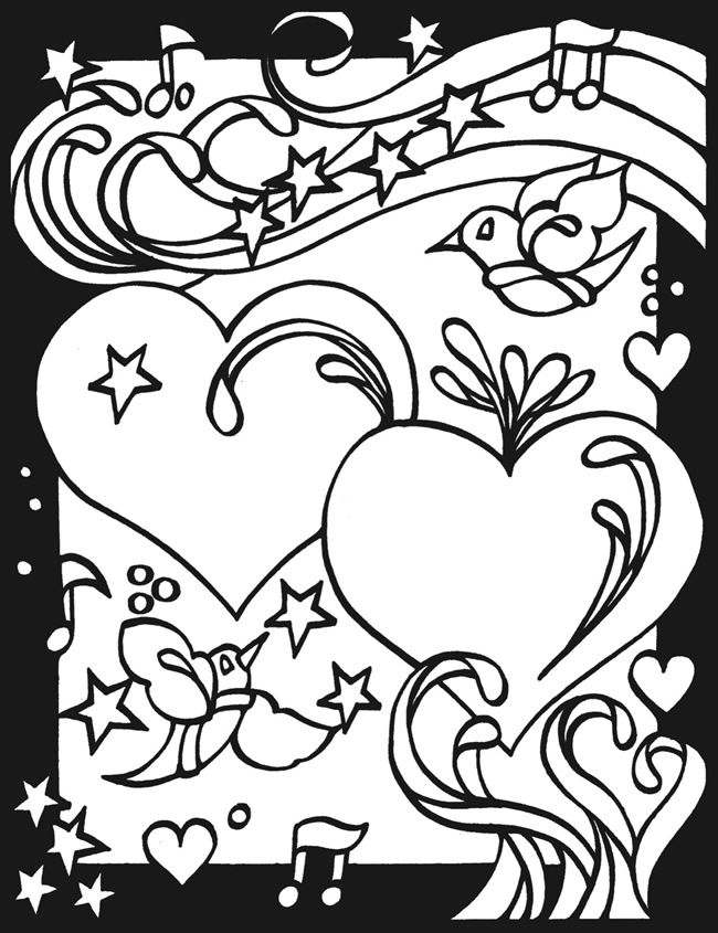 page 2 heart to heart stained glass coloring book by dover publishing