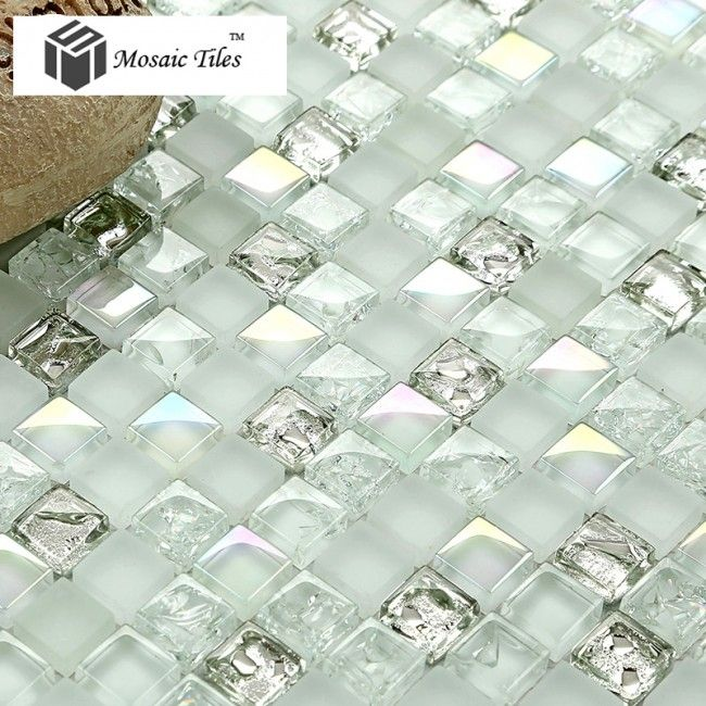 Tst Crystal Gl Mosaic Tile Aqua White Iridescent Silver Diamond Waterdrops Inner Le Design Http
