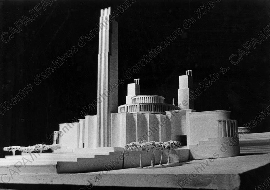 Carlu, Jacques (1890-1976)  1934. Exposition internationale de Paris, 1937. Concours pour le camouflage du Palais du Trocadéro, Paris 16e : vue de la maquette