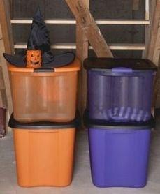 Halloween Plastic Storage Bins Store Your Halloween Decorations In Style & Halloween Plastic Storage Bins: Store Your Halloween Decorations In ...