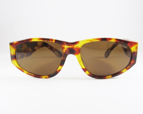 8851e20ee6340 Vintage Tortoise Shell Effect Women s Sunglasses made in Italy ...