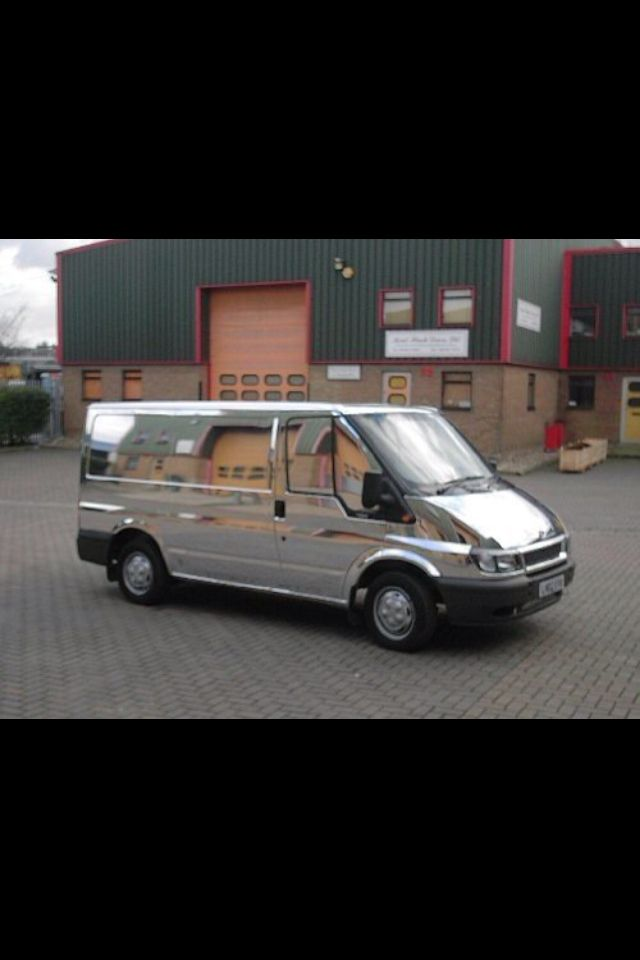 Chrome Wrap Transit Van Vehicle By Ian Hobbs Wwwihscukcom - Chrome custom vinyl decals for trucks