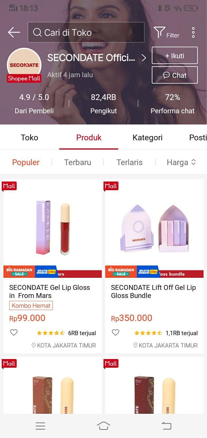 23 Toko Online SECONDATE Official Shop   Shopee Indonesia