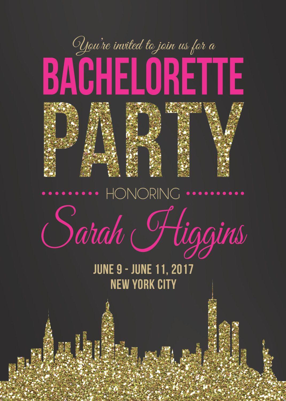 New york city bachelorette party invitation nyc for Best cities for bachelorette parties