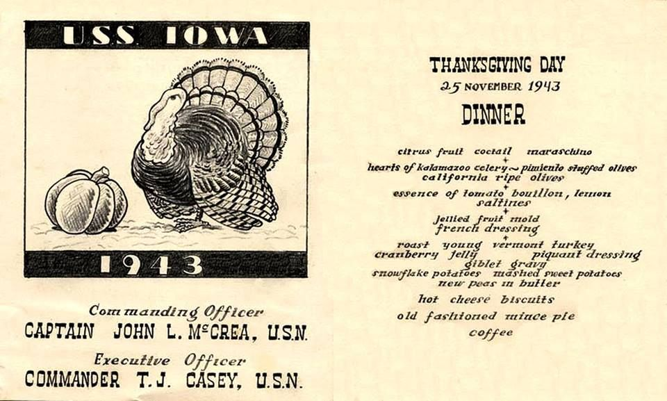 remarkable michigan exposures office thanksgiving decorations | USS IOWA (BB-61) Thanksgiving Day Dinner - 25 November ...