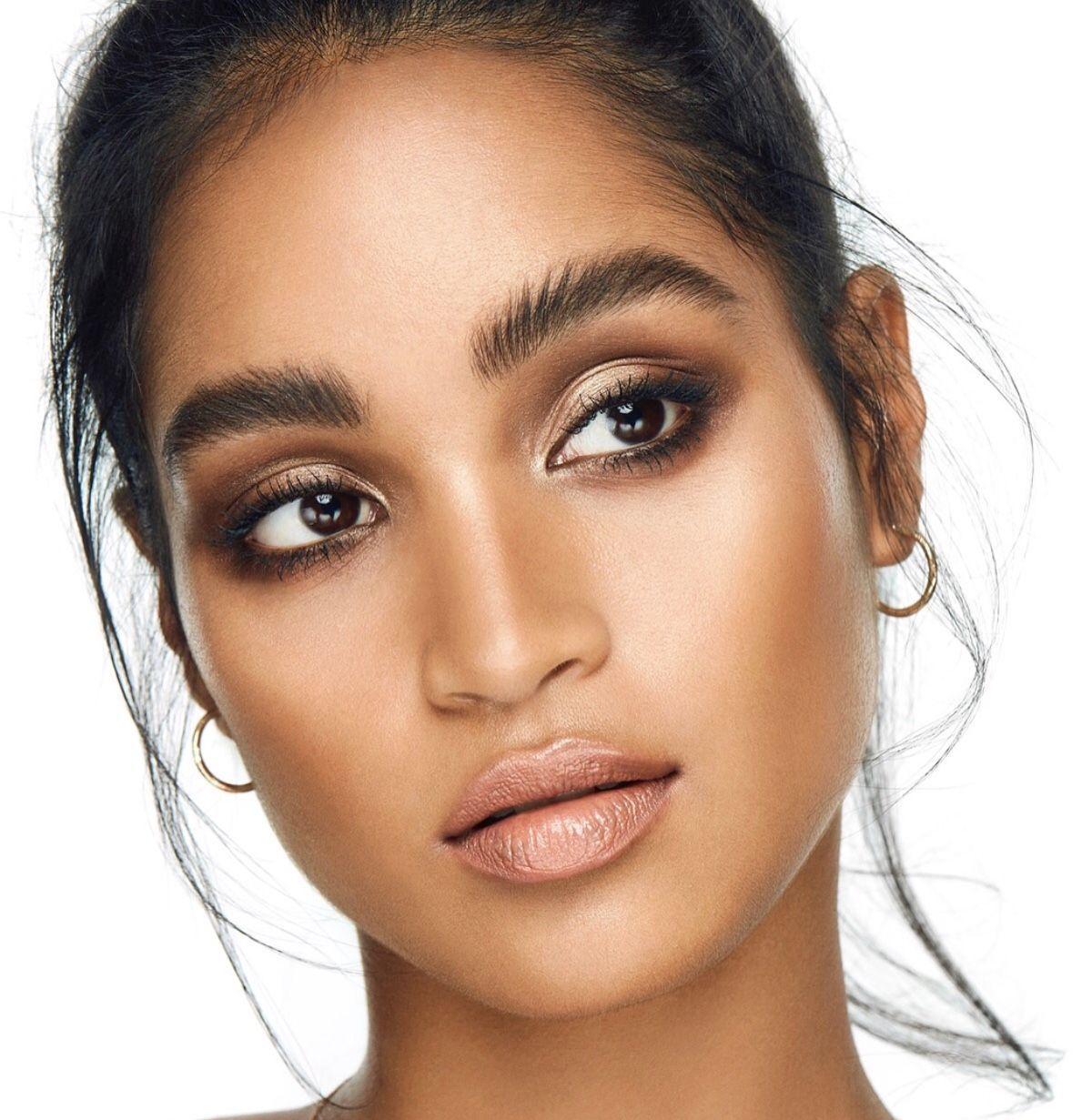 Natural makeup tutorial for brown skin