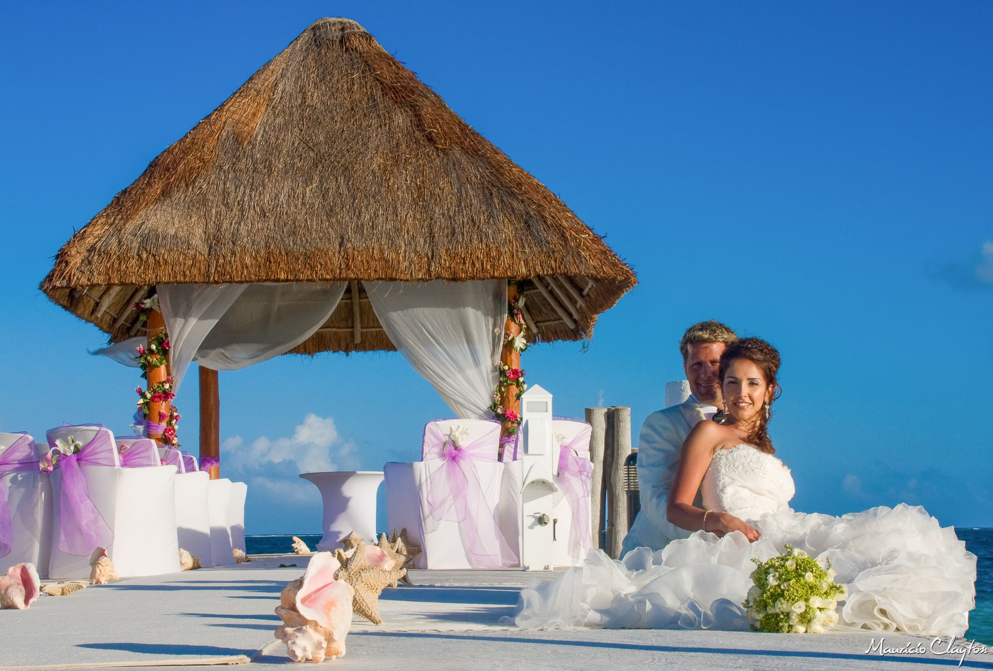 Excellence Riviera Cancun Pier Wedding Photos Ghazal And Clint At