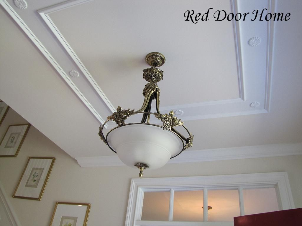Ceiling Molding Design Ideas ceiling molding ideas Rather Than Ceiling Beamshow About A A Large Frame Around The Ceiling Fan Red Door Home Two Simple Ideas To Add Character To Your Ceilings