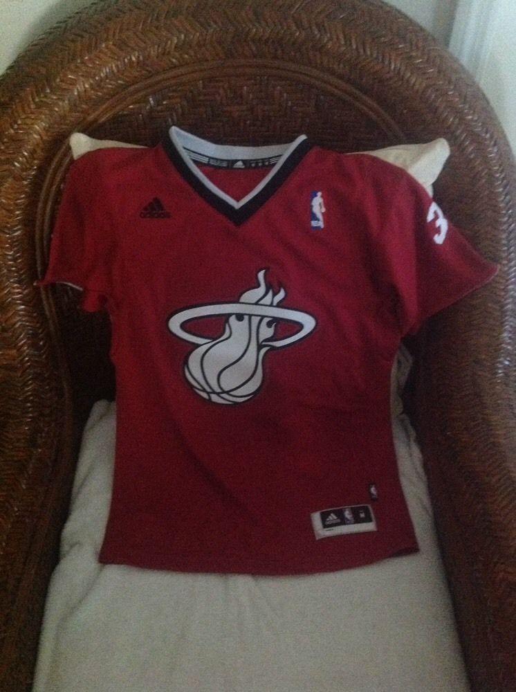 985e77cd927 Dwayne wade Miami Heat  3 Christmas NBA Short Sleeves red Jersey ...