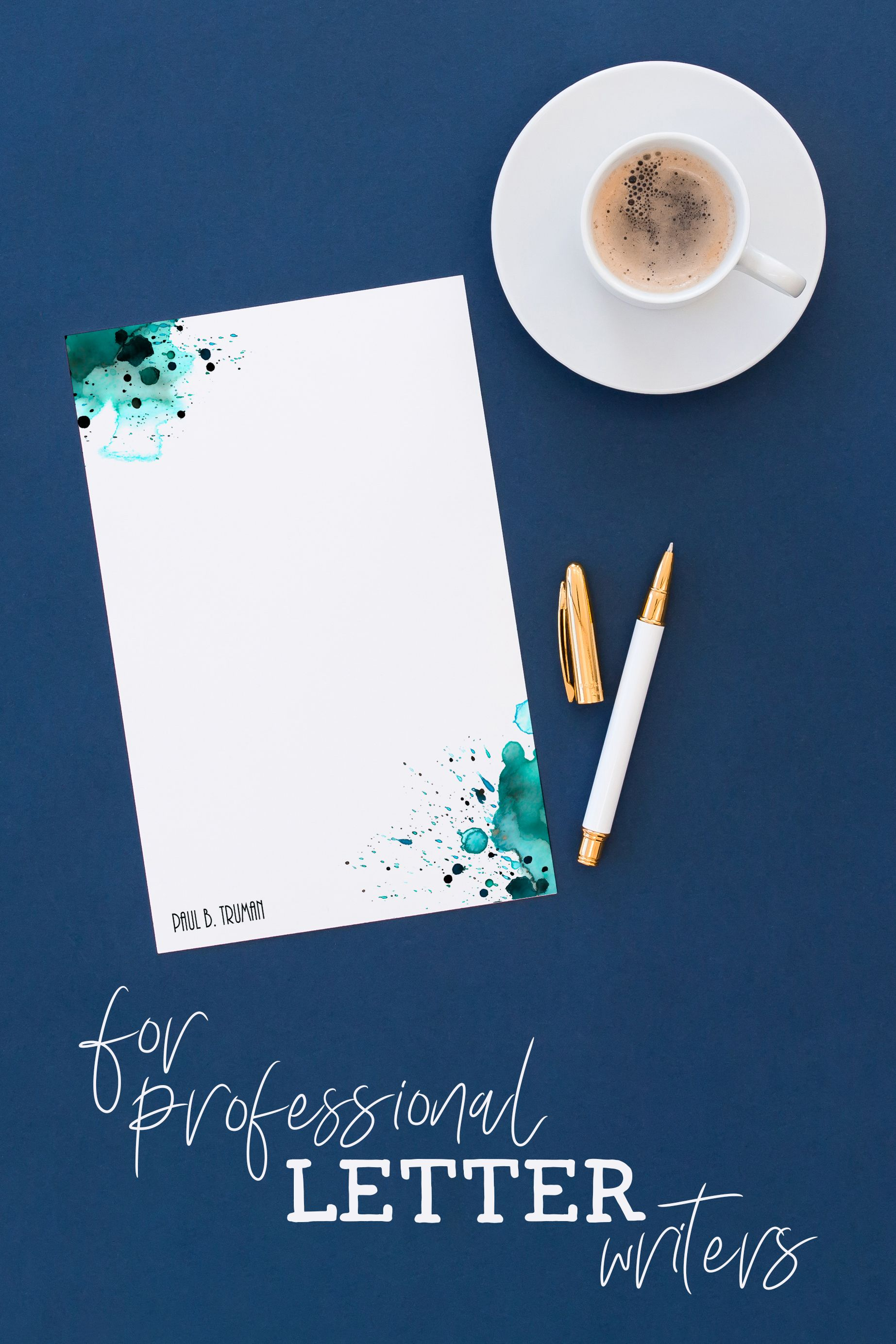 Watercolor Stationery Personalized Letter Writing Set Letter Stationary Set Stationary Paper Letter Set Letter Paper Letter Stationery Sets