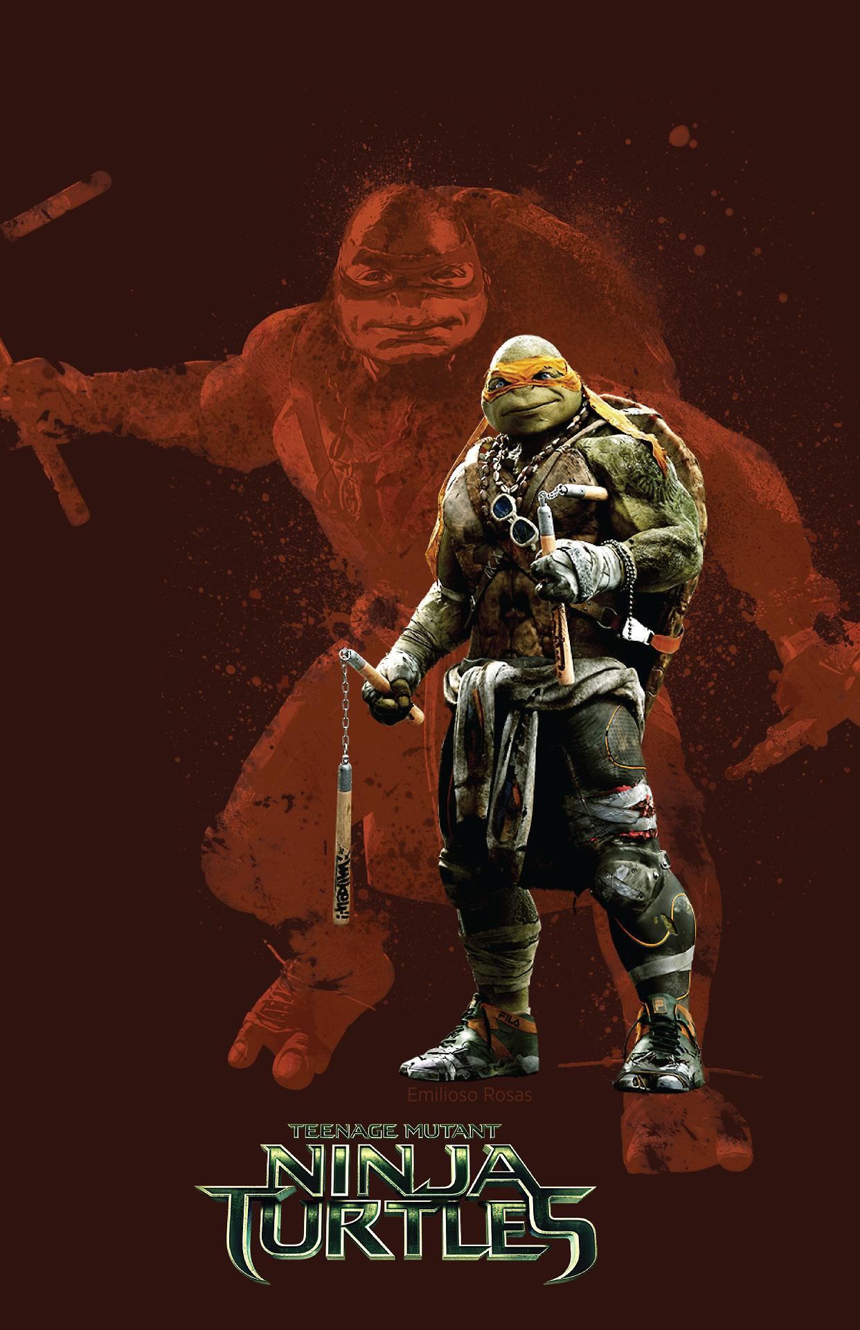 2014 Mikey Tmnt Teenage Mutant Ninja Turtles Art Ninja Wallpaper