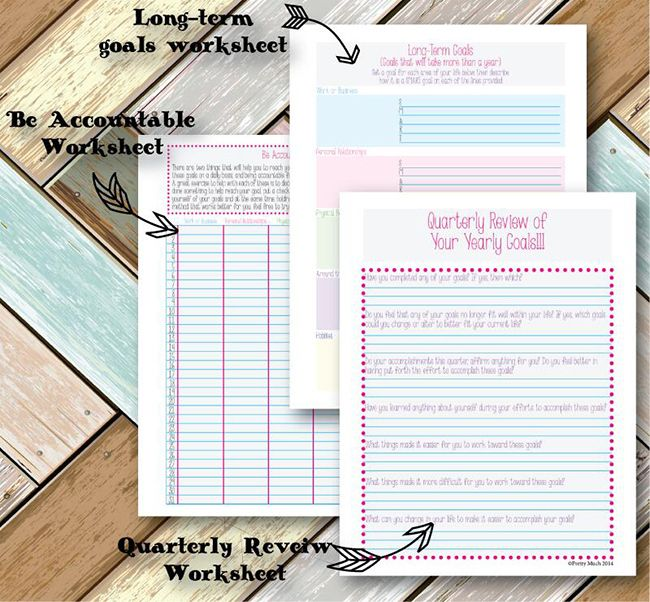 Goal Planning Workbook on Etsy